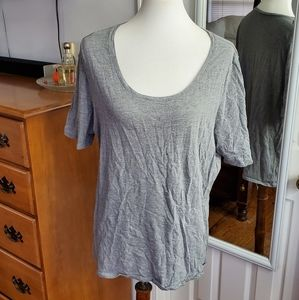 Lane Bryant Gray Scoop Neck Tee 18/20